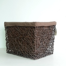 coffee rattan handicraft woven storage basket