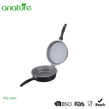 Die Cast Aluminum Round Induction Double Fry Pan