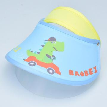 Children double faceshield protective visor hat