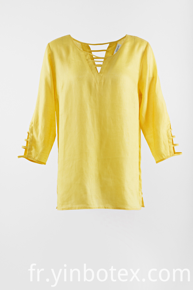 Linen Yellow Blouse