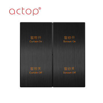 four gang light control Hotel Electrical Wall Switch