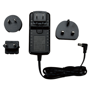 Universal Interchangeable Plug Adapter 30W AC DC Adapter
