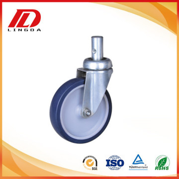 5 inch round stem industrial casters