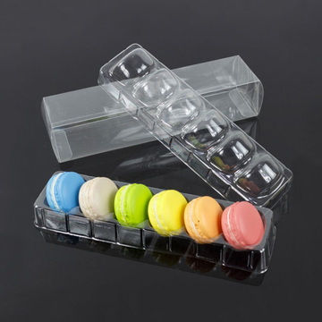 plastic forming blister clear macaron tray