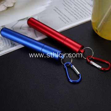 Stainless Steel Flexible Adjustable Telescopic Straw