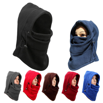 thermal winter micro polar fleece white balaclava