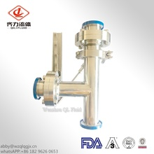 Sanitary Stainless Steel Tee Type Butterfly Valve