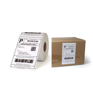 4 x 6 Blank Barcode shipping label shopify