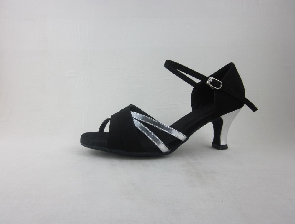 Silver Ladies Salsa Shoes