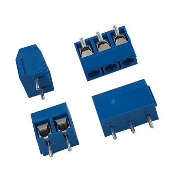 Euro style PCB blue small screw terminal block