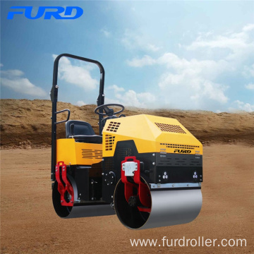 1 Ton Hydraulic Double Drum Vibratory Riding Compactor Roller