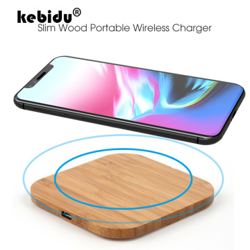 kebidu Wood Universal 5W Wireless Charging Pad For Samsung S8 S9 Fast Charging For IPhone Xs Max XR X 8 Plus QI Wireless Charger