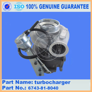 Komatsu spare parts PC300-7 turbocharger 6743-81-8040 for engine parts