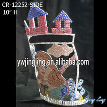 Cute Girl Castle Rhinestones Crown For Gift