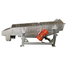 Smooth operation linear vibrating screen for grains