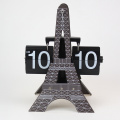 Eiffel Tower Style Flip Clocks for Decor
