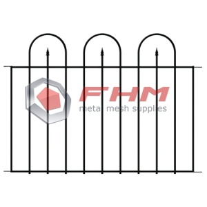 Wrought Iron Wire Border Fencing Folding Flower Barrier