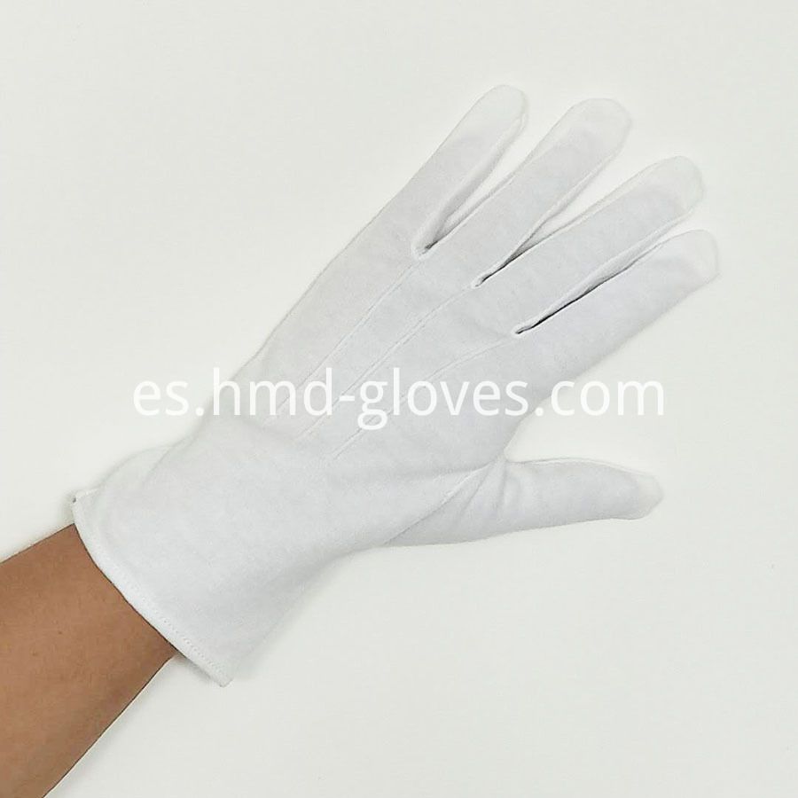 White Cotton Snap Gloves for Police