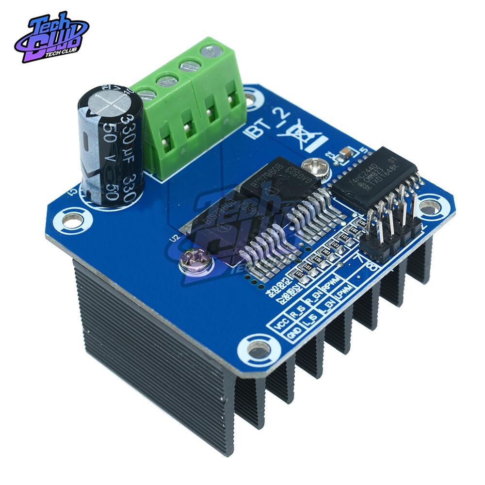 Double BTS7960 B BTS7960B 43A H-Bridge high power Motor Driver Module Board High-power For Arduino MCU 5.5V Smart Car