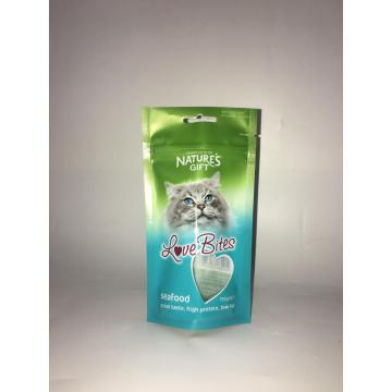 Cat Food Packaging Stand Up Bag With Zipper