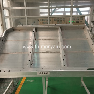 Aluminum battery tray for vehicle