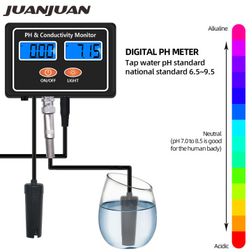 Digital Online PH EC Conductivity Monitor Meter Tester Water Quality Real-time Continuous Monitoring for Fish Tank Aquarium