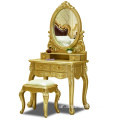 Solid wood furniture dresser cabinet golden color dresser table for bedroom