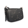 Classic Women Cow Leather Crossbody Flap-over Handbag