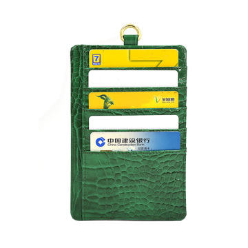 Double Sided PU Leather Card Holder Wallet Case