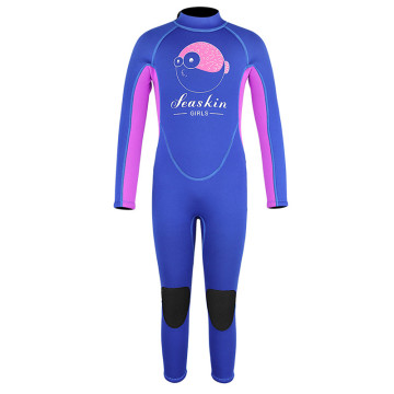 Seaskin Girls Long Sleeves Underwater Diving Wetsuits