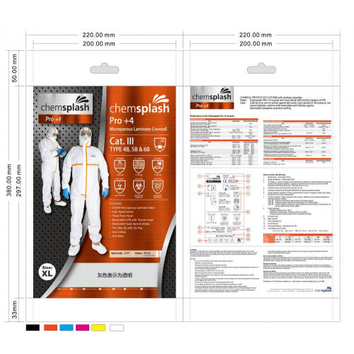 Breathable PE film coverall