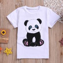 Fashion New T-shirt Girl Panda Polar Bear Cute Girls T Shirt Unisex Boys Shirts Casual Short Sleeve Kids Tshirt Harajuku Summer