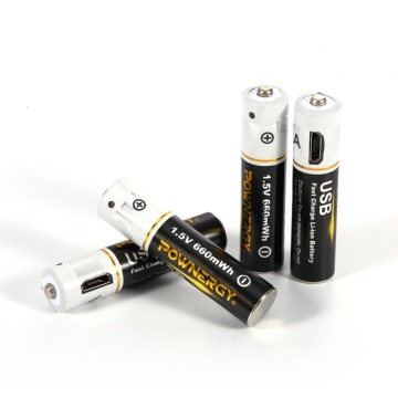 Rechargeable AAA Bike Light Batteries With USB Charger
