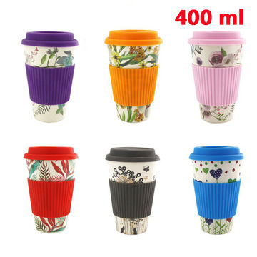 New Travel Reusable Bamboo Fibre Coffee Cup Mugs Drink Cups Eco-Friendly Coffee Tea Water Juice Mug Gift For Outdoor Portable