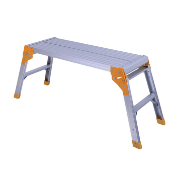 Aluminum working folding platform
