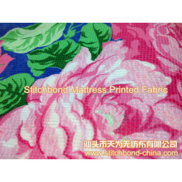 GRS Printed Stitchbond Nonwoven for Mattress