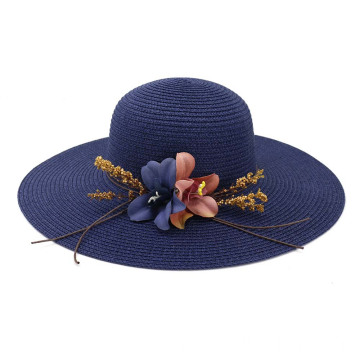 Simplify large brim women summer straw hat