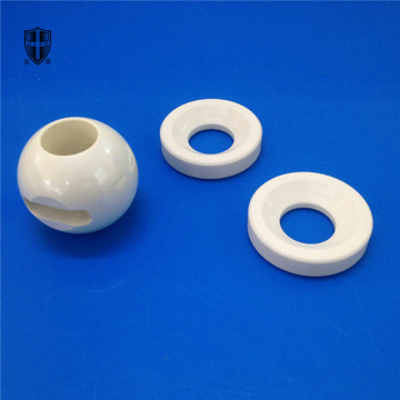 zirconia ceramic faucet pipeline eyelet ball body valve