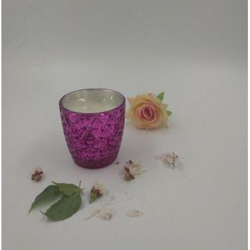 Scented Candle in Colored Glass Jar