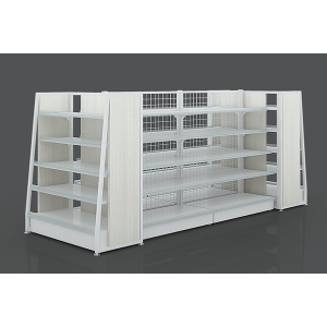 Fashion Steel And Wooden Supermarekt Display Rack
