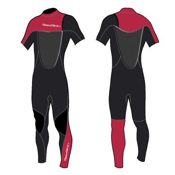 Seaskin 3mm Neoprene Zipperless Short Arm Spring Suit