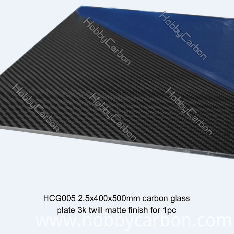 shaped carbon glass plates