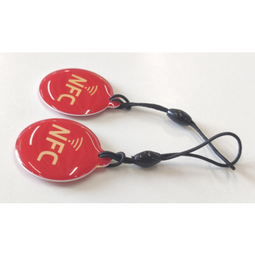 Epoxy RFID key tag NTAG215 plastic card