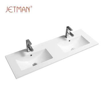 High quality square cabinet double public basin wash basin