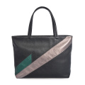 Women Joint Leather Tote Bags Portable Patchwork Handbag