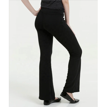Custom Women's irregular leg hem opening slim trousers