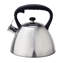 Whistling stove top kettle with capsule bottom