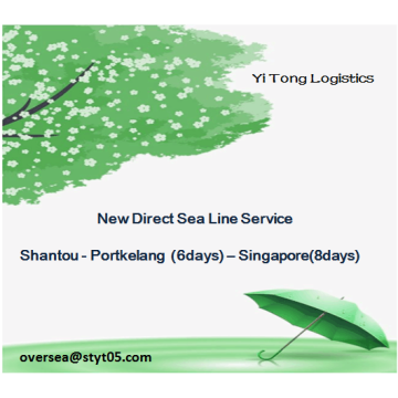 New Direct Sea Line Service To Port Kelang/Singapore