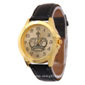 Rhinestone Crown Leather Quartz Watch