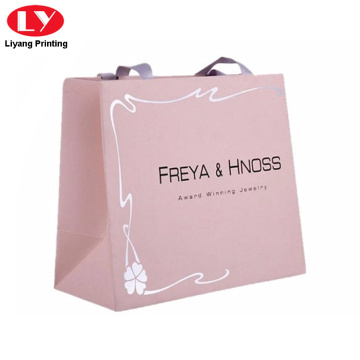 Custom Logo Clothing Paper Packaging Shopping Hanging Bag